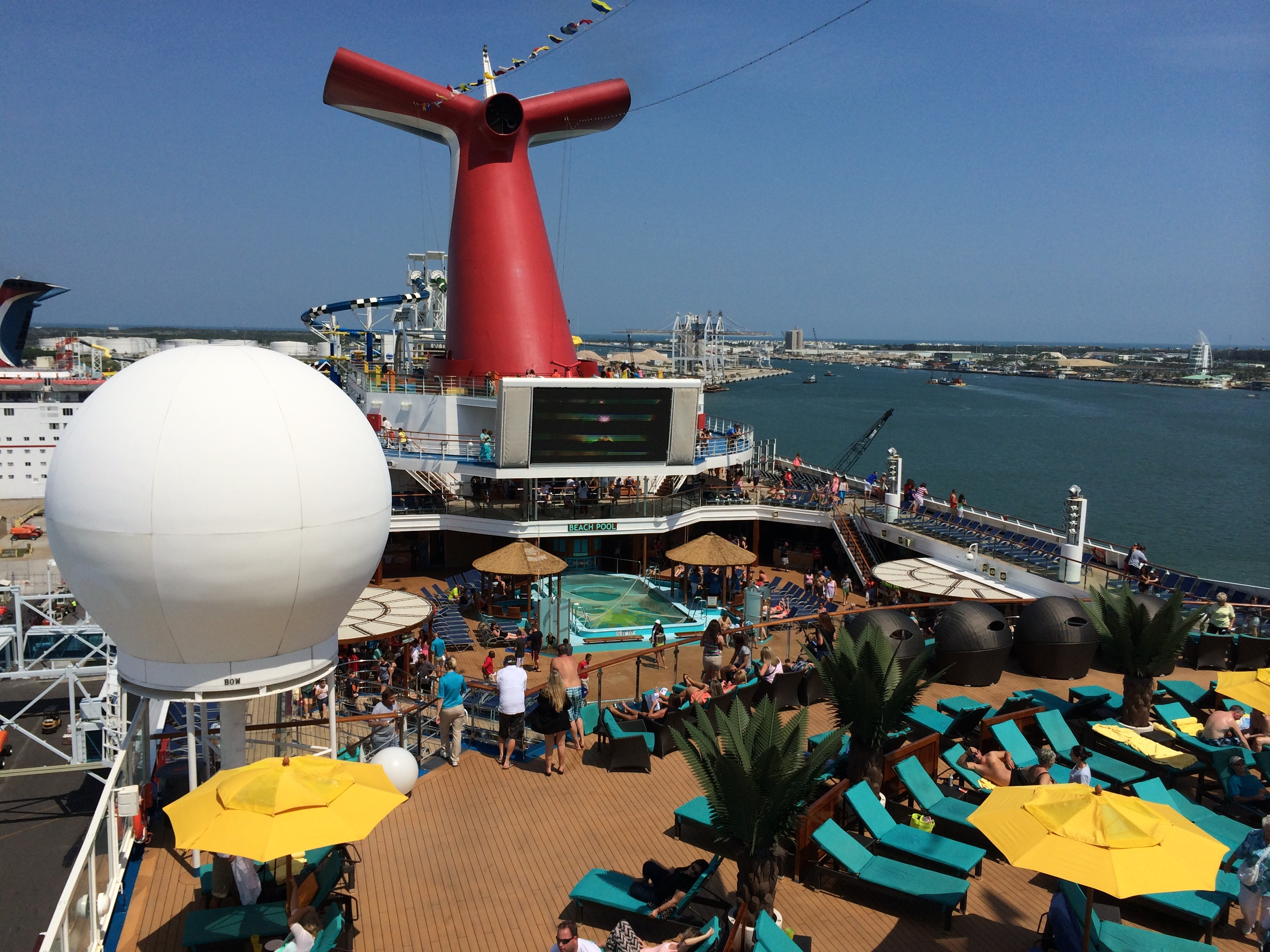 Carnival Sunshine Cruise Review Apr 27 2014 A Little Crowded But