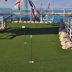 Mini putt on Royal Princess