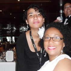 Photobomb at the Formal Dinner. LOL!