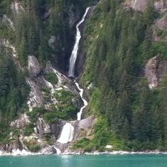 Waterfall in Glacier Bay,