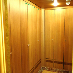 Walk-In Closet in Pinnacle Suite, Cabin 7001