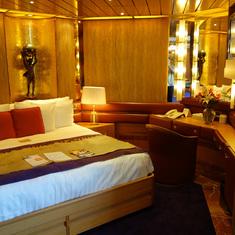 Entrance to Bedroom in Pinnacle Suite, Cabin 7001