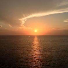 Charlotte Amalie, St. Thomas - Sunset on the Oasis