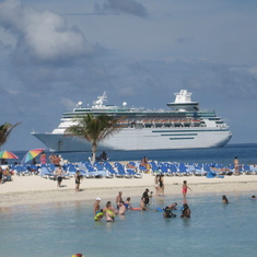 Masjesty of the Seas from Coco Cay