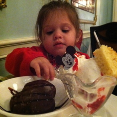 Two desserts at Royal Palace