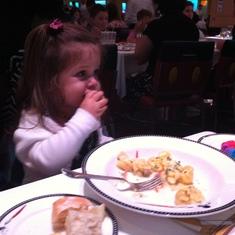 Animator's Palette, eating the truffle pasta dish