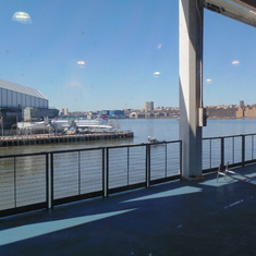 View from embarkation waiting area.