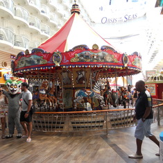 Carousel in kids area