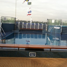 Adults-only pool, Carnival Splendor