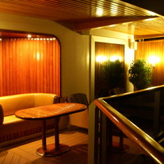 View from hot tub towards other end of Penthouse Balcony, Westerdam