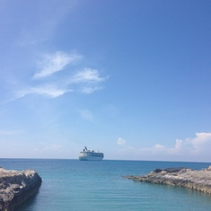Pic from Coco Cay of our cruise!