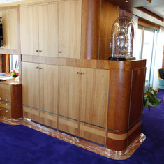 Cabinets in Living Room and View towards Dining Room in Pinnacle Suite, 7001