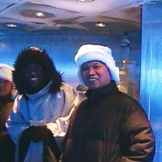 Inside the 17 degree Ice Bar!