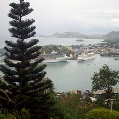 Looking down from home museum on St. Lucia, breathtaking!