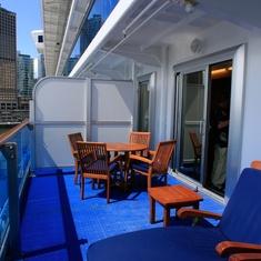 The Rhodes Suite balcony