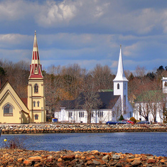 3 Churches, Mahone Bay, NS, CANADA