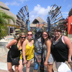 Statue man in Cozumel