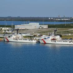 Coast Guard Ships in port