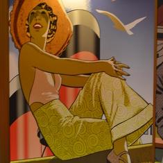 Wall Art in Stateroom hallways