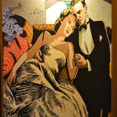 Corredor art in stateroom passageways