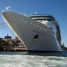 Rhapsody of the Seas, docked