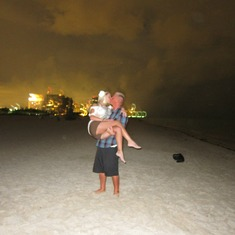 Danielle and I on South Beach night before going aboard the Liberty