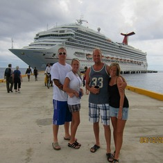 The four of us at Cozumel