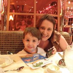Me & N at Dinner