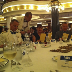 Last formal night at Captain's table!