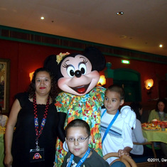 Breakfast with Minnie Mouse