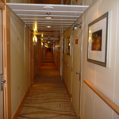 Passageway to staterooms - so airy