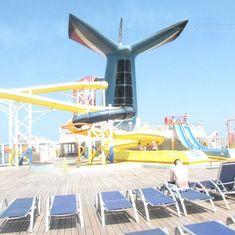 top deck water slides