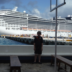 Port service in Jamaica and Cozumel