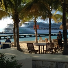 Ship from Cozumel Beach