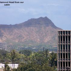 Diamond Head from our cabin