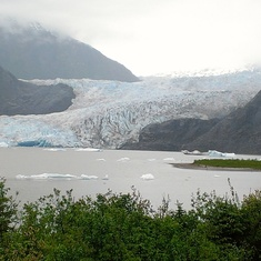 Mendenhall Glacier, easy to see in Juneau