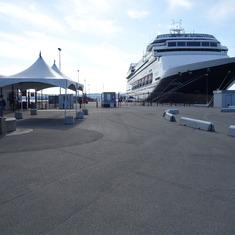 HAL's Ship, ms Zaandam, at Victoria, B.C., May 2014