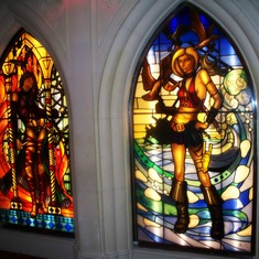 Stained glass in the nightclub