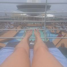 Ship pool deck
