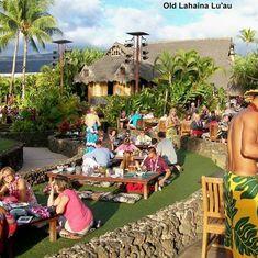 The lu'au in Maui