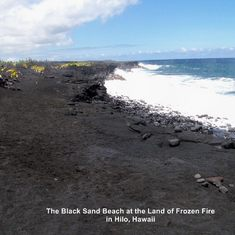 The Black Beach in Hilo