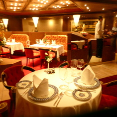 Inside the intimate and charming Pinnacle Restaurant