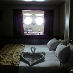 Towel heart bed