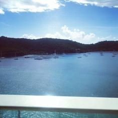 Balcony view in St. Thomas