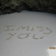 A message written in the sand