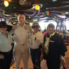 After breakfast in Mardigra - picture with new twins friends & captain associate