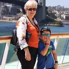 Jonathan & Jane departure 20/12/2013 day Sydney Harbour Australia