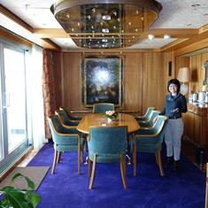Dining Room in Pinnacle Suite, Cabin 7001