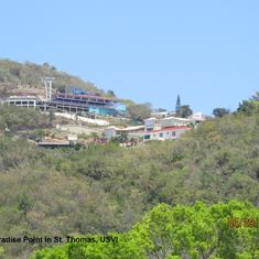 Charlotte Amalie, St. Thomas - Looking up at Paradise Point in St. Thomas