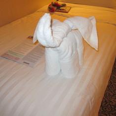Cute elephant towel art